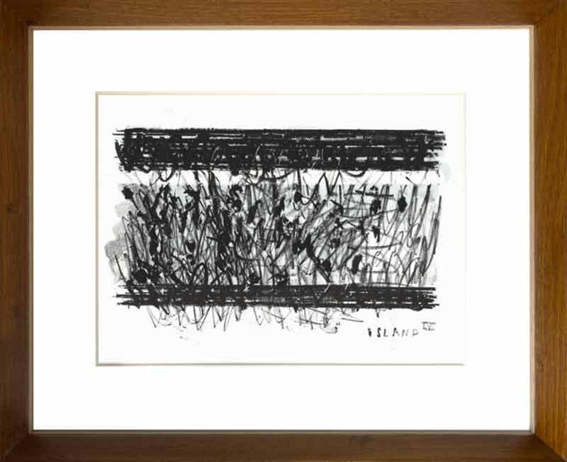 indrammet litografi af Ken Denning