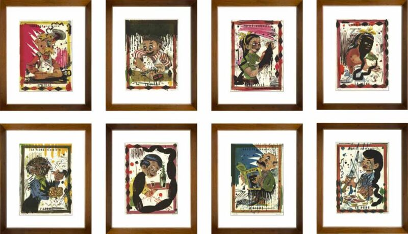 Indrammet serie af Demian Flores
