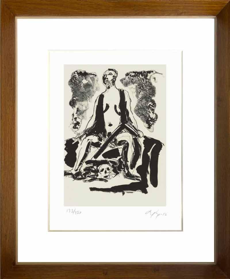 indrammet litografi af Bjørn Nørgaard