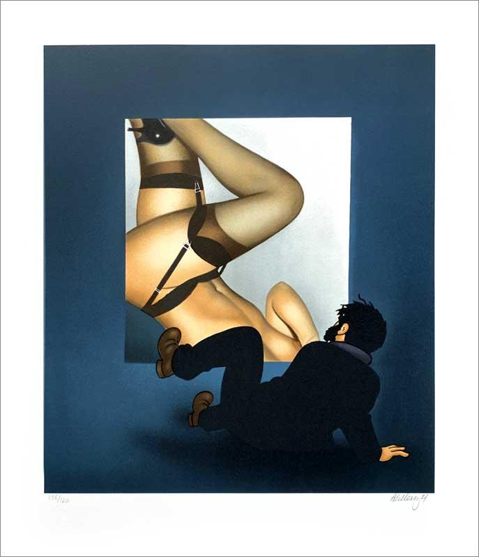 Lithographie par Ole Ahlberg Tin Tin