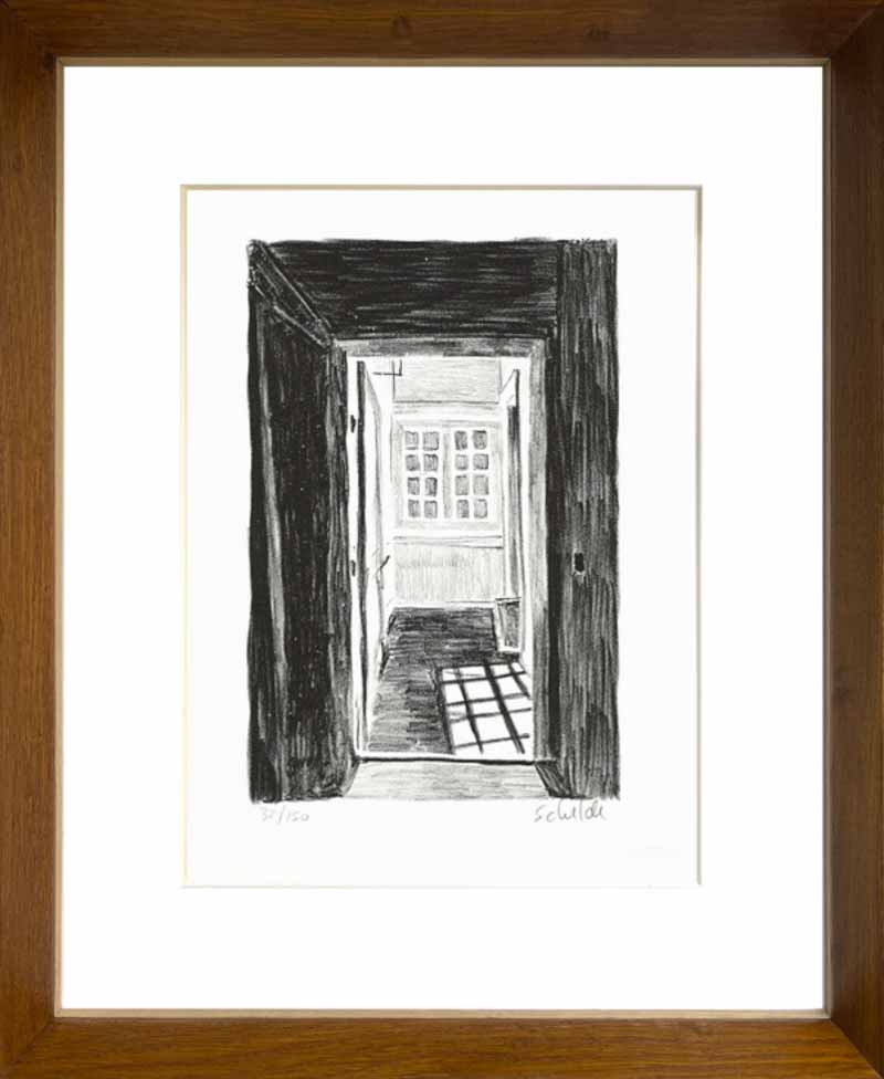 indrammet litografi af Morten Schelde